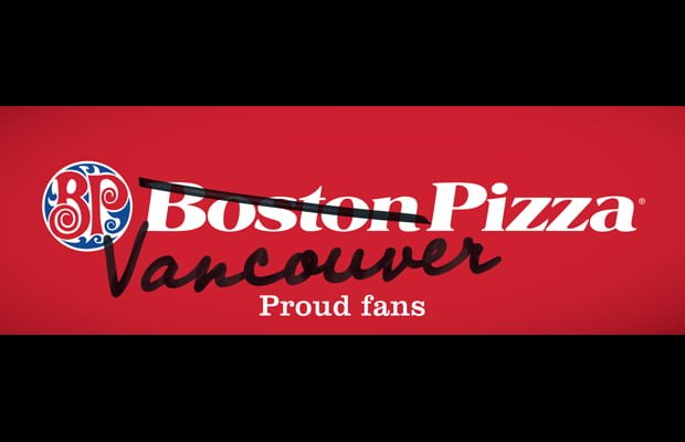 boston pizza to become vancouver pizza right before game 1. Black Bedroom Furniture Sets. Home Design Ideas
