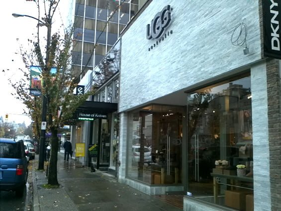 ugg store vancouver