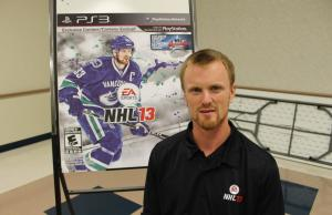 Henrik Sedin At NHL 13 Midnight Launch [Pictures]