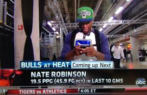 Spotted: Chicago Bulls Nate Robinson Arrives to NBA game In a Canucks Shirt
