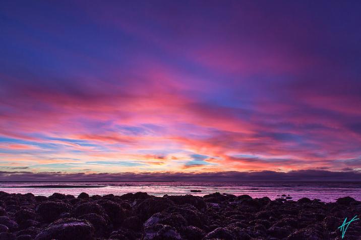 Sunset at Wreck Beach