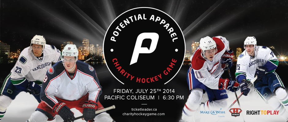 Potential Apparel Charity Hockey Game + Ticket Giveaway