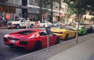 Spotted: Rainbow Of Lamborghinis On Alberni Street