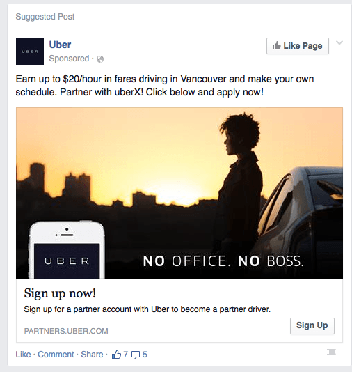 uber continues to recruit vancouver drivers through social. Black Bedroom Furniture Sets. Home Design Ideas