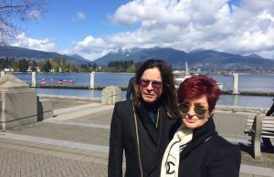 Spotted: Sharon And Ozzy Osbourne In Coal Harbour, Vancouver