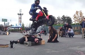 70 Motorcycle Drive Over Man Lying On Nails In Vancouver