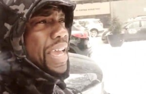 Canadian Snowfall Gets The Best Of Kevin Hart (Video)
