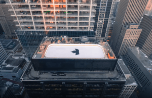 Timelapse Captures Creation Of Canada's First Rooftop Ice Rink