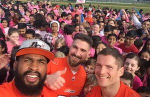 BC Lions Partake In Massive Pink Day Flash Mob In Delta (Video)