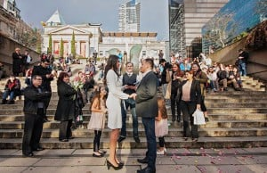 Pop Up Wedding At Robson Square