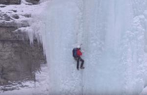 Ice Climbing A 328ft Waterfall In Tumbler Ridge, BC (Video)