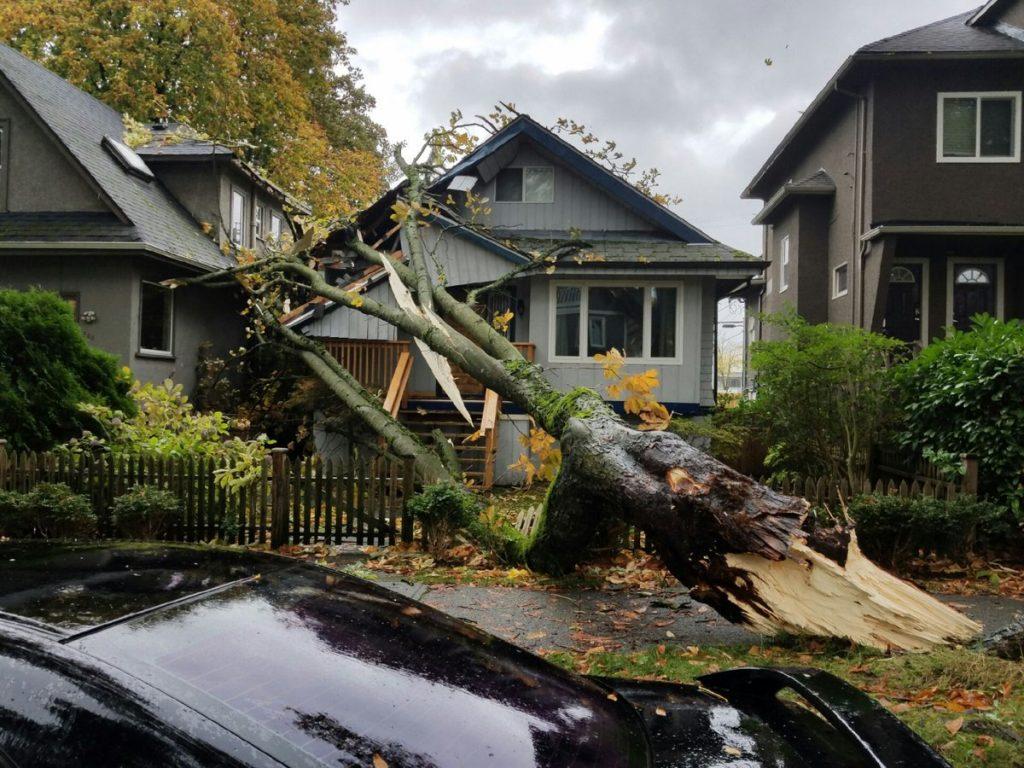 Zerstörtes Haus bei Fraser & 10th Ave