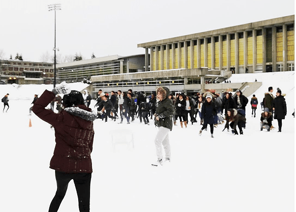 SFU Snowball Fight - Vancouver snow