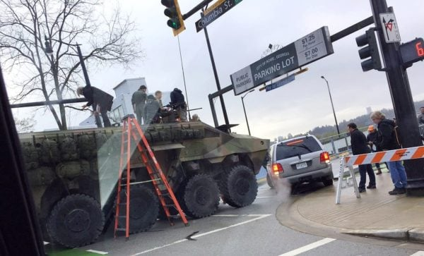 Predator filming New Westminster