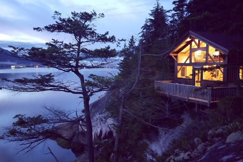 Private island rent BC