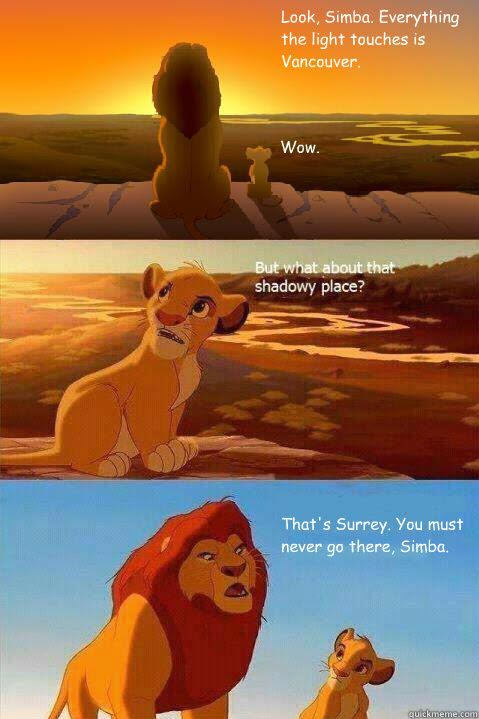 Grew up in Surrey