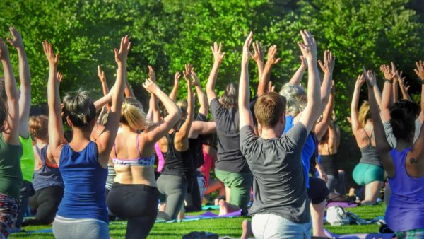 outdoor free yoga vancouver