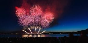 Honda Celebration of Light fireworks - celebration of light - yvr observation deck