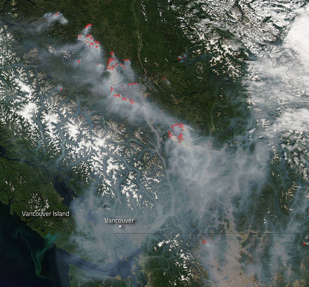 Weather And Smoke Conditions Vancouver Island