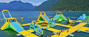 BC Is Home To A Giant Inflatable Water Park In The Middle Of Lake