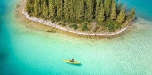 stunning photo kayaker