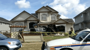 Limousine Crash Leaves Surrey Home On Verge Of Collapse
