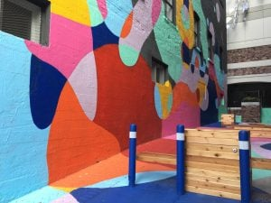 New North Vancouver Mural Adds a Splash of Colour to Lower Lonsdale