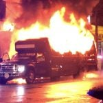 Party Bus Bursts Into Flames in Downtown Vancouver (Video)