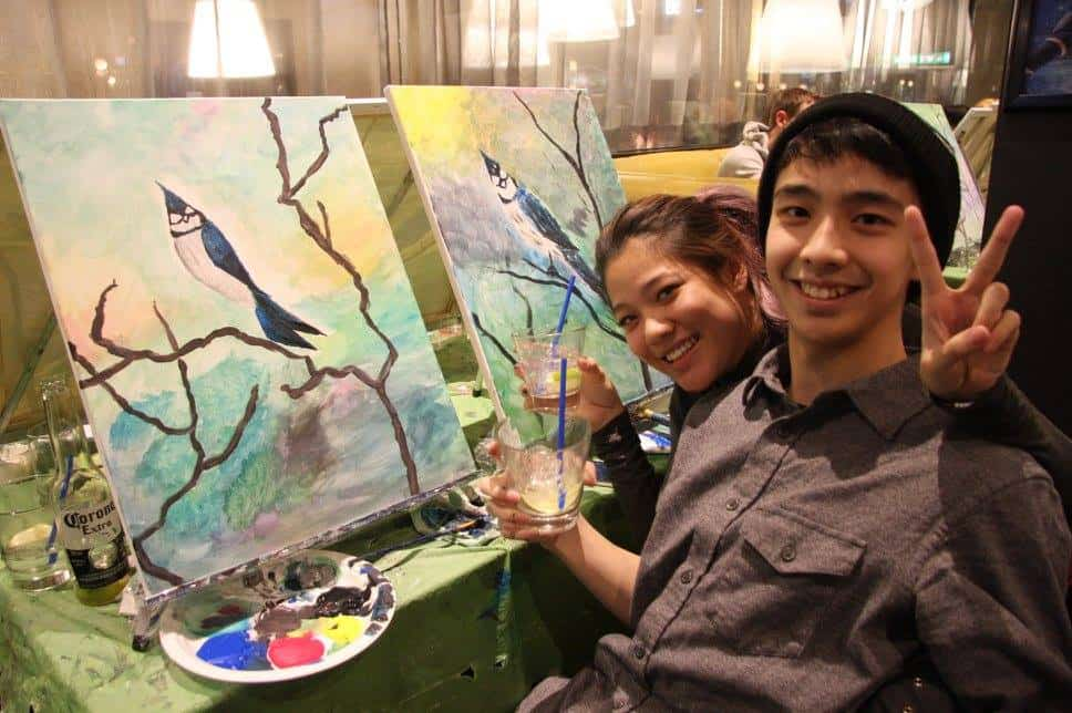 Image result for wine paint nite