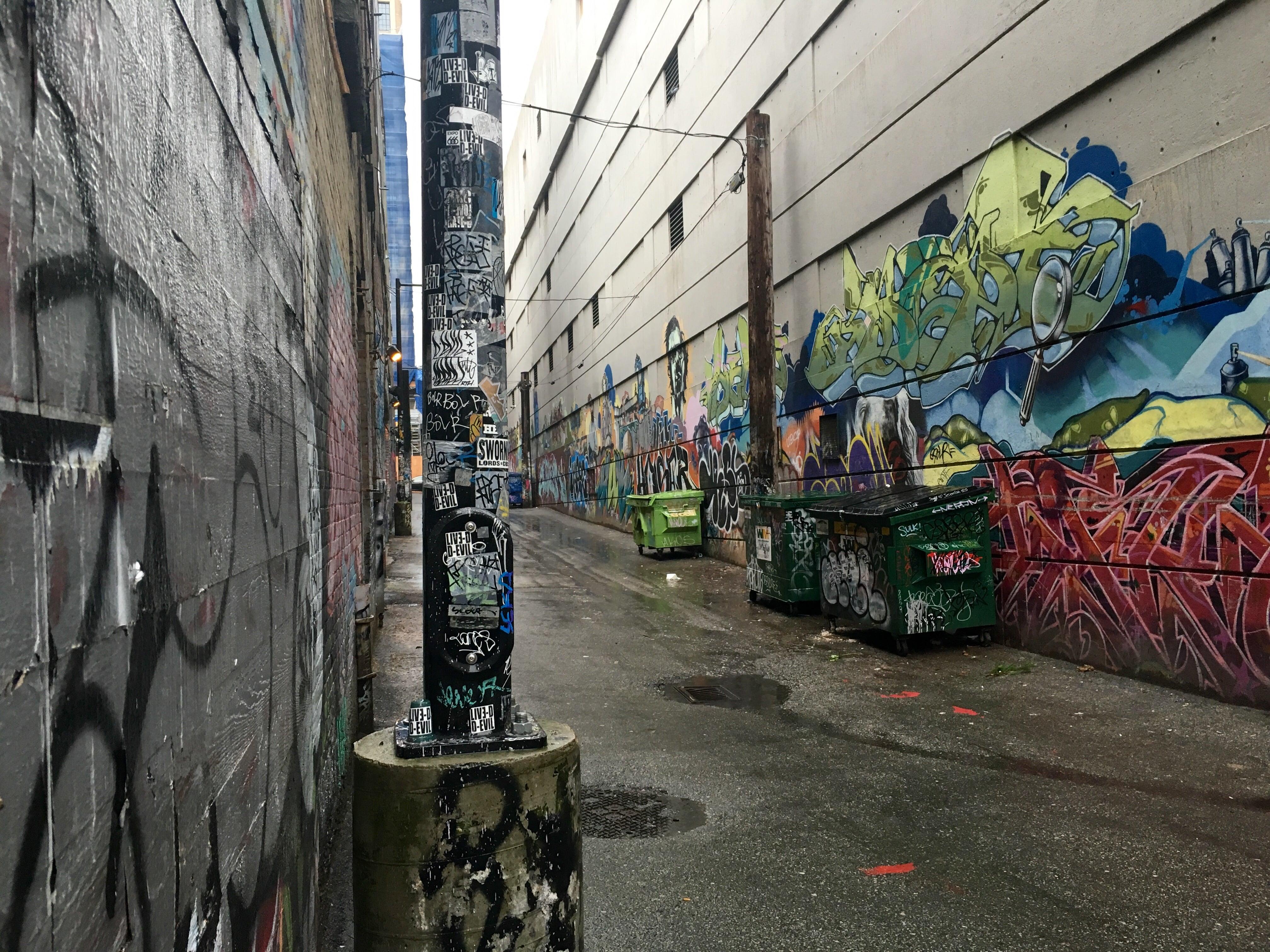 Vancouver Alleyways art