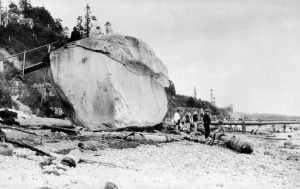 The History Behind White Rock (And The Actual Rock)
