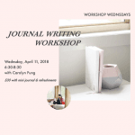 Journal Writing Workshop North Vancouver 2018