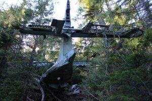 abandoned plane crash