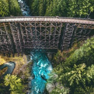 Not Many People Know The World's Tallest Timber Trestle Bridge Is Here In BC