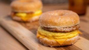 doughnut breakfast sandwich