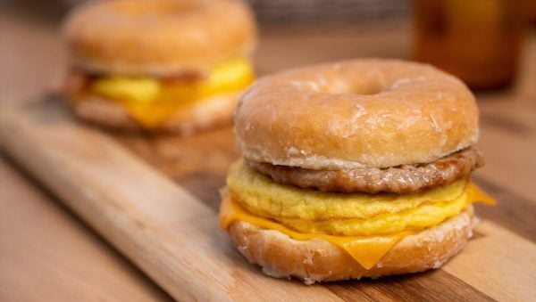 doughnut breakfast sandwich