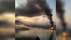 Surrey Barge Fire