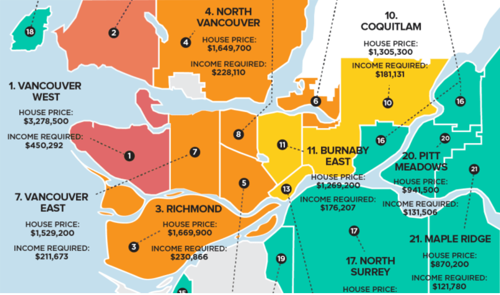 How Much You Need To Make To Buy A Home In Metro Vancouver (MAP)