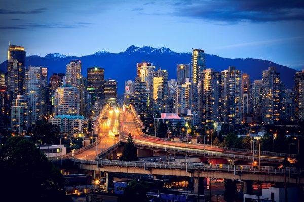 Granville Street Bridge Vancouver traffic
