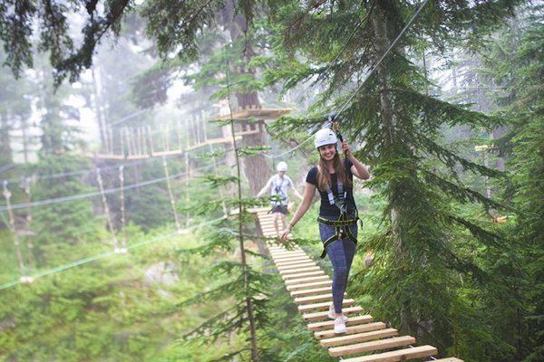 Grouse Mountain adventure course