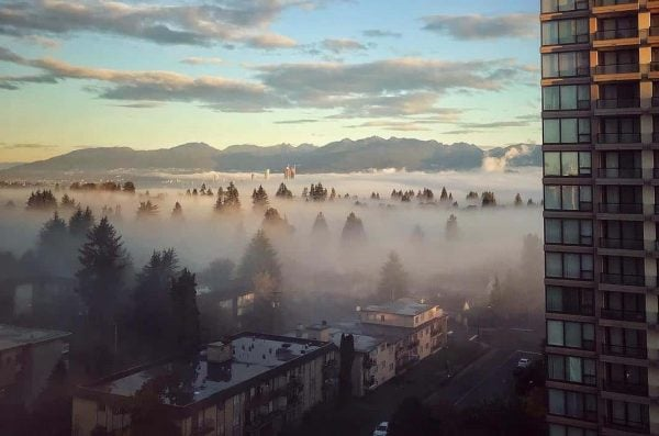 Metro Vancouver fog