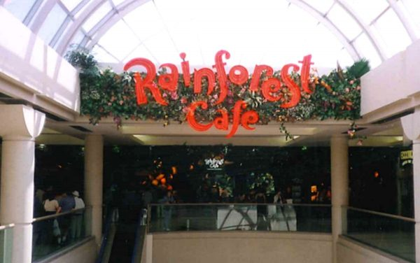 rainforest cafe metrotown mall burnaby
