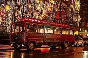 Karaoke Christmas Lights Trolley