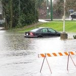 Rainstorm Floods Burnaby Streets, Submerging Cars and Other Vehicles