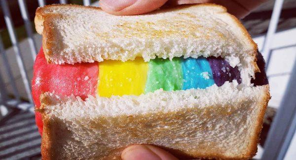 rainbow cheese toast