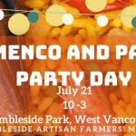 Flamenco Paella Party Day West Vancouver 2019