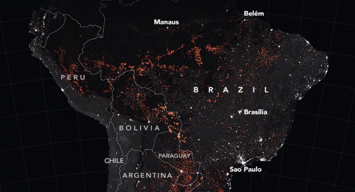 Amazon Rainforest Fire NASA