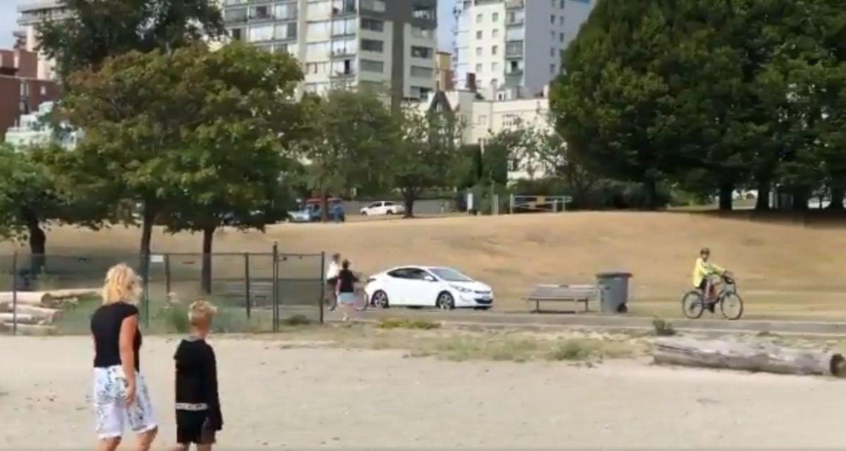 Vancouver Driver Passes Through Sunset Beach Via Pedestrian Path (Video)