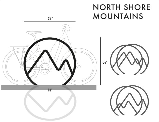 Vancouver Bike Racks - North Shore Mountain
