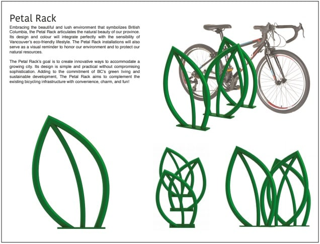 Vancouver Bike Racks - Petal Rack